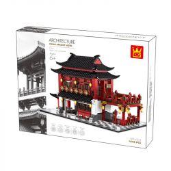 WANGE 6312 Xếp hình kiểu Lego MODULAR BUILDINGS China Ancient Hotel Architecture Chinese Ancient Style Hoped New China Building Khách Sạn Cổ 2038 khối