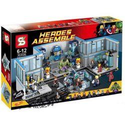 SHENG YUAN SY SY368 Xếp hình kiểu Lego SUPER HEROES Avengers Headquaters Phòng Thí Nghiệm Của Biệt đội Siêu Anh Hùng 1521 khối