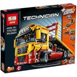 NOT Lego TECHNIC 8109 Flatbed Truck , BLANK 18109 LELE 38042 LEPIN 20021 Xếp hình Xe Tải Phẳng 1115 khối có động cơ pin
