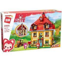 Enlighten 3905 Qman 3905 Xếp hình kiểu Lego ALI'S SMALL DREAMY TOWN Raccoon Home Of Dream Ngôi Nhà Của Những Chú Gấu Trúc 941 khối