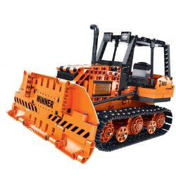 Winner 7111 Xếp hình kiểu Lego TECHNIC Splicing RC Engineering Bulldozer Technology Assembly Remotective Bulldozer Máy ủi Bánh Xích điều Khiển Từ Xa 775 khối điều khiển từ xa