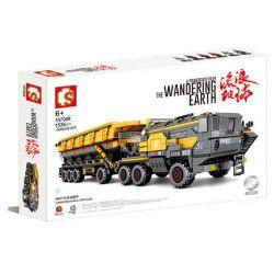 SEMBO 107008 Xếp hình kiểu Lego THE WANDERING EARTH Cargotruck-Iron OreTruck CN373 Bucket Carrier Large Number Xe Tải Khai Thác Quặng 1535 khối