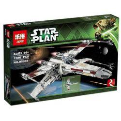 BLANK 60011 KING 81041 LEPIN 05039 Xếp hình kiểu Lego STAR WARS Red Five X-wing Starfighter Red Five X-wing Star Fighter Phi Thuyền Chiến đấu Cánh Chữ X Màu đỏ 1559 khối