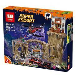 LEPIN 07053 Xếp hình kiểu Lego DC COMICS SUPER HEROES Batman Classic TV Series - Batcave Batman Classic TV Series - Bat Cave Hang Dơi 2526 khối