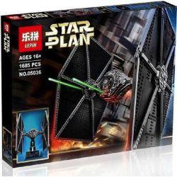 LELE 35007 LEPIN 05036 Xếp hình kiểu Lego STAR WARS TIE Fighter Titanium Fighter Phi Thuyền Chiến đấu 1685 khối