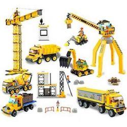 WOMA J5689 5689 Xếp hình kiểu Lego CITY Construction Machines Các Loại Máy móc công trường xây dựng 1451 khối