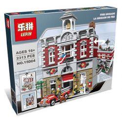 KING 84004 LEJI LJ99009 99009 LEPIN 15004 Xếp hình kiểu Lego CREATOR EXPERT Fire Brigade Fire Department Trụ Sở Cứu Hỏa 2231 khối