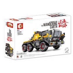 SEMBO 107006 Xếp hình kiểu Lego THE WANDERING EARTH CargoTruck-Iron Truck CN373 Bucket Carrier - Head Large Xe Vận Chuyển Bọc Thép 1445 khối