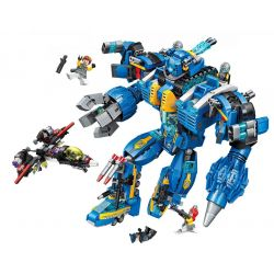 Enlighten 2722 (NOT Lego The High-Tech Era The High-Tech Era ) Xếp hình Siêu Người Máy Mecha Poseidon 1351 khối