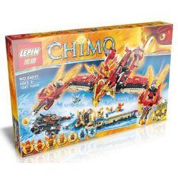 Bela 10298 Lepin 04011 (NOT Lego Legends of Chima 70146 Flying Phoenix Fire Temple ) Xếp hình Đền Phượng Hoàng Lửa Bay 1301 khối