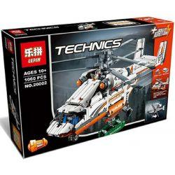 Lepin 20002 Lele 38008 (NOT Lego Technic 42052 Heavy Lift Helicopter ) Xếp hình Trực Thăng Vận Tải Hạng Nặng Động Cơ Pin 1060 khối