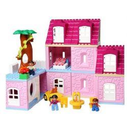 NOT Lego Duplo DUPLO 4966 Doll's House, HYSTOYS HONGYUANSHENG AOLEDUOTOYS  HG-1619 1619 HG1619 Xếp hình Ngôi Nhà Hồng Của Bé Gái 95 khối