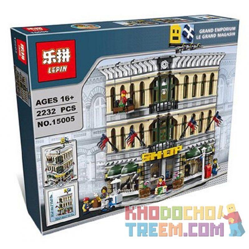 Lepin 15005 15041 Lele 30004 (NOT Lego Creator Expert 10211 Grand Emporium ) Xếp hình Trung Tâm Thương Mại Lớn 2332 khối