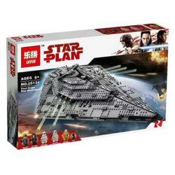 NOT Lego STAR WARS 75190 First Order Star Destroyer, Bela 10901 Lari 10901 LEPIN 05131 Xếp hình Tàu Chiến Của Phe Bóng Tối 1416 khối