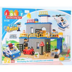 JUN DA LONG TOYS JDLT 5136A Xếp hình kiểu Lego Duplo DUPLO Defeating Fugitives Đánh Bại Kẻ Đào Tẩu 92 khối