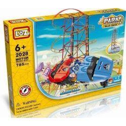 LOZ 2028 C0002 0002 Xếp hình kiểu Nanoblock LOZ ELECTRIC AMUSEMENT PARK Electric Amusement Park Roller Coaster Tàu Lượn Siêu Tốc động Cơ Pin 785 khối có động cơ pin