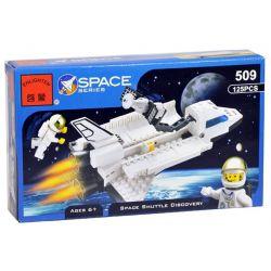 Enlighten 514 Qman 514 Xếp hình kiểu Lego DISCOVERY Space Shuttle Discovery-STS-31 Exploring The Channel Discovery Space Plane -sts -31 Tàu Con Thoi đưa Vệ Tinh Vào Quỹ đạo 828 khối
