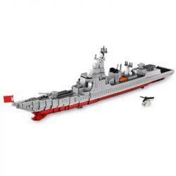 XINGBAO XB-06028 06028 XB06028 Xếp hình kiểu Lego MILITARY ARMY Type 052D Derstroyer China Navy Missile Destroyer Tàu Chiến Phóng Tên Lửa Của Hải Quân Trung Quốc 1359 khối