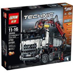 Lepin 20005 (NOT Lego Technic 42043 Mercedes-Benz Arocs 3245 ) Xếp hình Xe Tải Có Cần Cẩu Động Cơ Pin 2793 khối