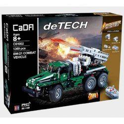 DOUBLEE CADA C61002 61002 Xếp hình kiểu Lego TECHNIC BM-21 Combat Vehicle BM-21 Missile Car Xếp Hình Pháo Phản Lực Của Nga 1369 khối điều khiển từ xa