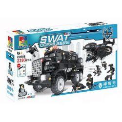 Woma C0558 (NOT Lego SWAT Special Force Swat's Vehicles ) Xếp hình Xe Lenco Bearcat Và Máy Bay Của Lực Lượng Đặc Nhiệm Mỹ 2393 khối