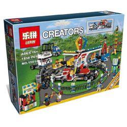 Lepin 15014 (NOT Lego Creator Expert 10244 Fairground Mixer ) Xếp hình Khu Vui Chơi 1858 khối