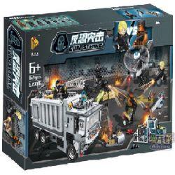PanlosBrick 635016 Panlos Brick 635016 Xếp hình kiểu Lego GUN STRIKE GunStrike Counter-terrorism Delivery Mobile Command Xe Chỉ Huy Lưu Động 1628 khối