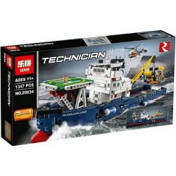 Lepin 20034 Decool 3370 (NOT Lego Technic 42064 Ocean Explorer ) Xếp hình Tàu Thám Hiểm Đại Dương 1347 khối