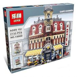 Lepin 15002 Pogo 10001 Lele 30012 King 84002 (NOT Lego Creator Expert 10182 Cafe Corner ) Xếp hình Quán Cafe Góc Phố 2133 khối