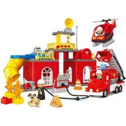 JUN DA LONG TOYS JDLT 5156A Xếp hình kiểu Lego Duplo DUPLO Fire-Fighter Pioneers I Đội Cứu Hỏa Tiên Phong I 85 khối