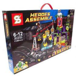 Sheng Yuan 512 SY512 (NOT Lego DC Comics Super Heroes 76035 Jokerland ) Xếp hình Vùng Đất Của Joker 1037 khối
