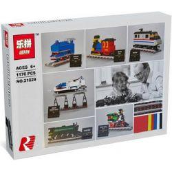 Lepin 21029 (NOT Lego City 4002016 50 Years On Track ) Xếp hình Bộ Sưu Tập Tàu Hỏa Cổ 1176 khối