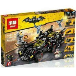 Lepin 07077 Bela 10740 Decool 7132 Sheng Yuan 942 SY942 (NOT Lego Batman Movie 70917 The Ultimate Batmobile ) Xếp hình Siêu Xe Của Người Dơi 1496 khối