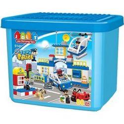 Jun Da Long Toys Jdlt 5141A (NOT Lego Duplo Polices Arresting Robber ) Xếp hình Đội Bắt Cướp 80 khối