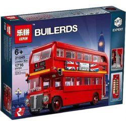 Lepin 21045 Bela 10775 (NOT Lego Creator Expert 10258 London Bus ) Xếp hình Ô Tô Buýt London 1716 khối
