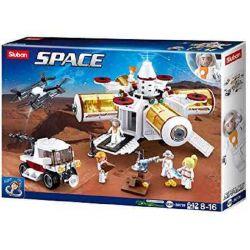 SLUBAN M38-B0739 B0739 0739 M38B0739 38-B0739 Xếp hình kiểu Lego SPACE Explore Space Base Thám Hiểm Hành Tinh Lạ 642 khối