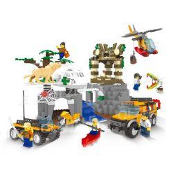 QIZHILE 25006 Xếp hình kiểu Lego CITY Jungle Expedition: Castle In The Forest Khám phá rừng nhiệt đới: Lâu đài trong rừng 917 khối