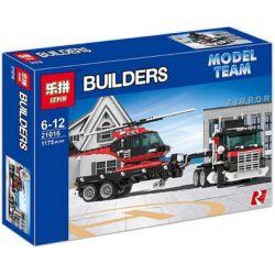 NOT Lego MODEL TEAM 5590 Whirl And Wheel Super Truck Turbine Super Truck Helicopter Super Transport Vehicle , LEPIN 21016 Xếp hình Xe đầu Kéo Chở Trực Thăng 1063 khối