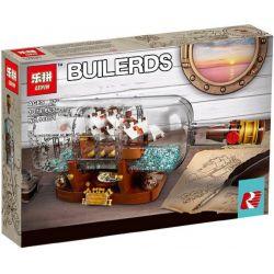 Bela 11050 Lari 11050 BLANK 6006 8001 KING 83029 LEPIN 16051 PRCK 63050 SHENG YUAN SY 1036 Xếp hình kiểu Lego IDEAS Ship In A Bottle Collection Bottle Chiếc Thuyền Trong Chai gồm 2 hộp nhỏ 962 khối
