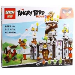 NOT Lego THE ANGRY BIRDS MOVIE 75826 King Pig's Castle Angry Bird King Pig Castle , Bela 10510 Lari 10510 LEPIN 19006 Xếp hình Cuộc Chiến Tại Pháo đài Vua Trộm 859 khối