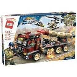Enlighten 3207 Qman 3207 Xếp hình kiểu Lego ThunderMission Thunder Mission Super Arms Appeared Xe Tải Bắn Tên Lửa 656 khối
