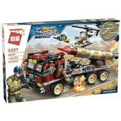 Enlighten 3207 (NOT Lego Thunder Mission Thundermission ) Xếp hình Xe Tải Bắn Tên Lửa 656 khối