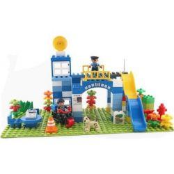 HYSTOYS HONGYUANSHENG AOLEDUOTOYS  GM-5034 5034 GM5034 Xếp hình kiểu Lego Duplo DUPLO Super Police Trụ Sở Cảnh Sát 100 khối