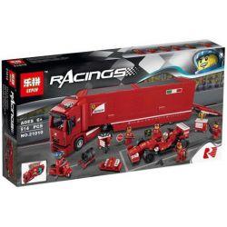LEPIN 21010 Xếp hình kiểu Lego SPEED CHAMPIONS F14 T & Scuderia Ferrari Truck F14 T And SCUDERIA Ferrari Truck Đội đua Xe Ferrari 884 khối