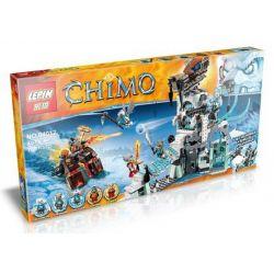 Bela 10296 Lari 10296 LEPIN 04012 Xếp hình kiểu Lego LEGENDS OF CHIMA Sir Fangar's Ice Fortress Legend Of Qigong Swords And Tiger's Shuai Bingbao Pháo đài Băng Của Ngài Fangar 670 khối
