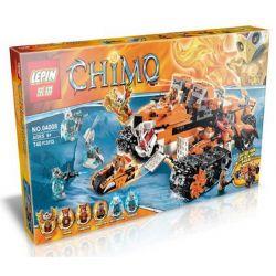 Bela 10357 Lari 10357 LEPIN 04008 Xếp hình kiểu Lego LEGENDS OF CHIMA Tiger's Mobile Command Qigong Legend Super Battle Base Of Shenhu Tribe Chiến Xa Chỉ Huy Của Hổ 712 khối