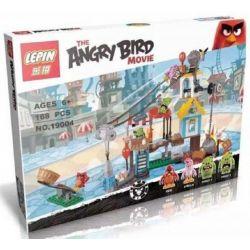 NOT Lego THE ANGRY BIRDS MOVIE 75824 Pig City Teardown Angry Bird Pig City Destroy , Bela 10508 Lari 10508 LEPIN 19004 Xếp hình Tấn Công Thành Phố Trộm Cắp 386 khối