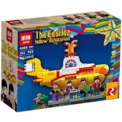 Lepin 21012 (NOT Lego Ideas 21306 The Beatles Yellow Submarine ) Xếp hình The Beatles: Tàu Ngầm Vàng 553 khối
