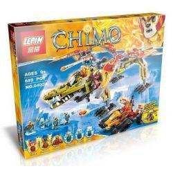 Bela 10358 Lari 10358 LEPIN 04024 Xếp hình kiểu Lego LEGENDS OF CHIMA King Crominus' Rescue Qigong Legend Allocandon Wang Beast Cuộc Giải Cứu Vua Crominus 863 khối