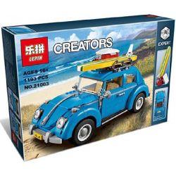 Bela 10566 Lari 10566 BLANK 10277 71003 DINGGAO 1268 G·M 85022 LELE 39007 LEPIN 21003 SHENG YUAN SY 1268 YILE 003 Xếp hình kiểu Lego CREATOR EXPERT Volkswagen Beetle ô Tô Con Bọ 1167 khối